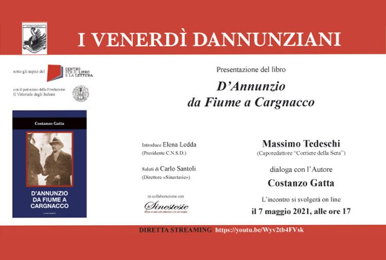 Presentazione del volume di Costanzo Gatta, D'Annunzio da Fiume a Cargnacco
