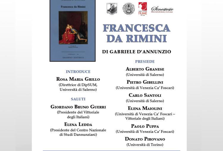 """Presentazione del libro""""Francesca da Rimini"""" di Gabriele D'Annunzio"""